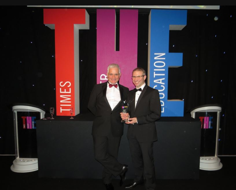 Professor Nick Beresford and Dr Mike Wood at the THE Awards