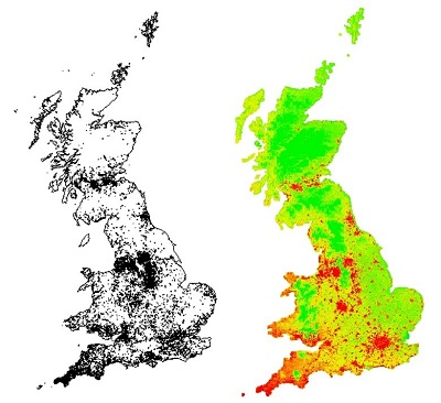 UK distribution of Knotweed