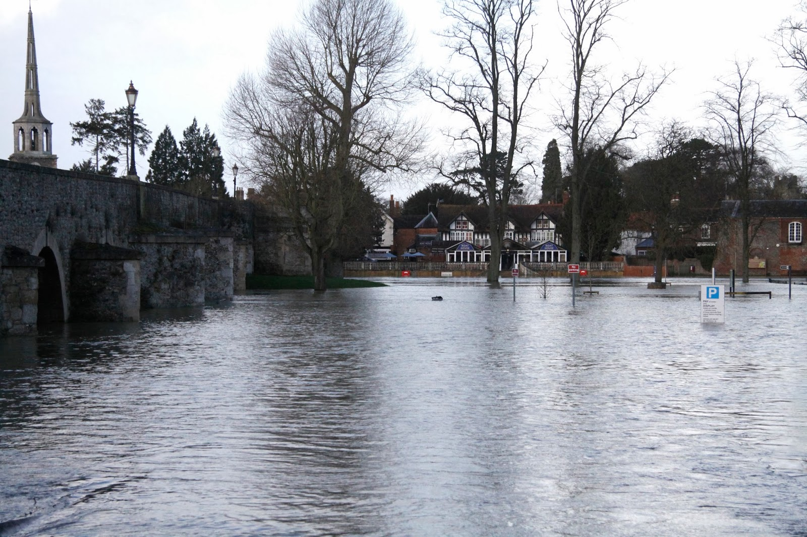 Flooding on the river Thames at Wallingford, Oxfordshire January 2014