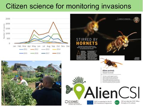 Image of a slide describing the work of Alien CSI