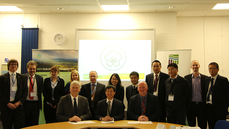 Staff from Centre for Ecology & Hydrology, James Hutton Institute and Chinese Academy of Agricultural Sciences