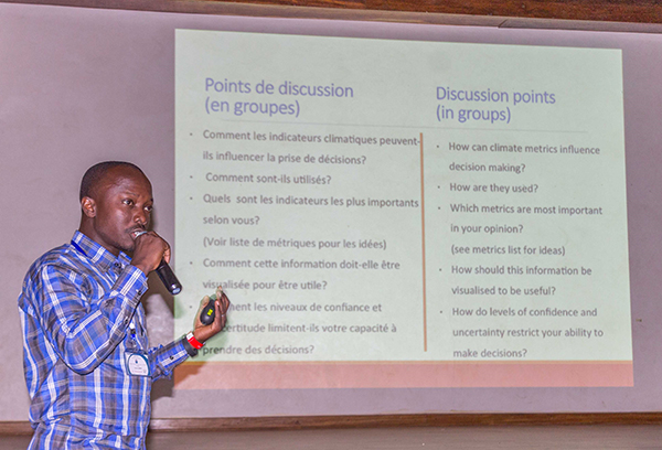 Presenting at the AMMA 2050 meeting in Senegal in February 2017