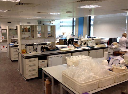 Analytical chemistry laboratory at Wallingford