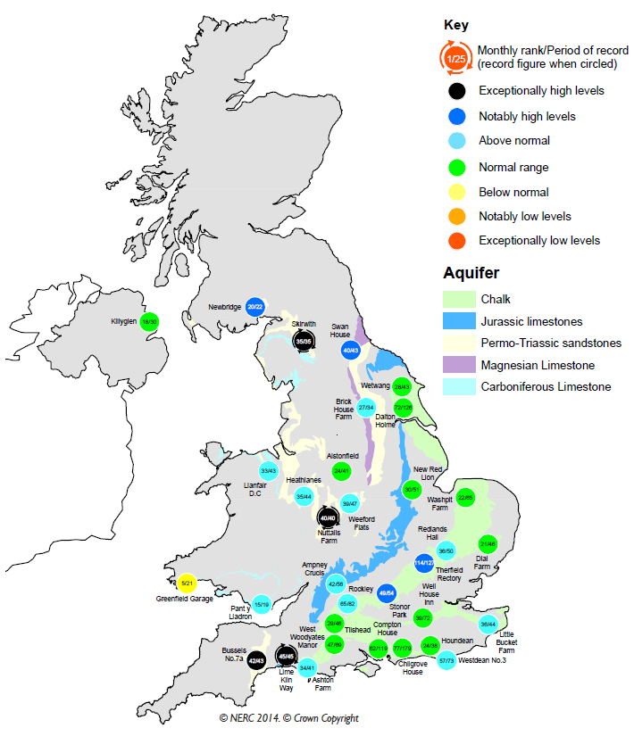 August 2014 groundwater map.