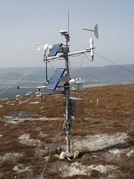 Automatic weather station at the  ECN site in the Cairngorms