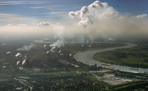 Industrial pollution. Photo © imagebroker / Alamy.