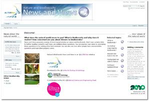 Screenshot of the News & Views website