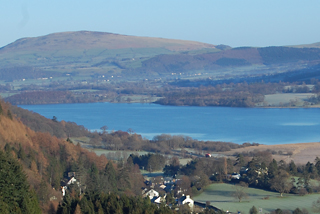 Bassenthwaite Lake and surrounding countryside