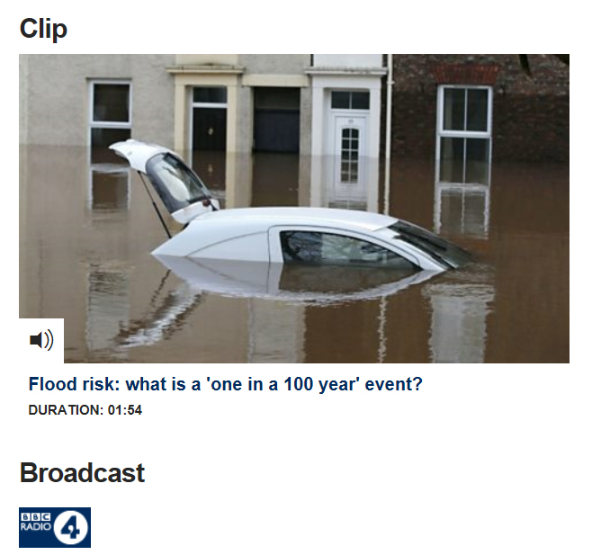 What is flood risk: BBC Radio 4 clip