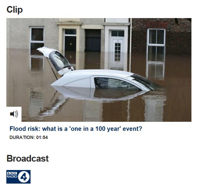 What is flood risk: BBC Radio 4 clip