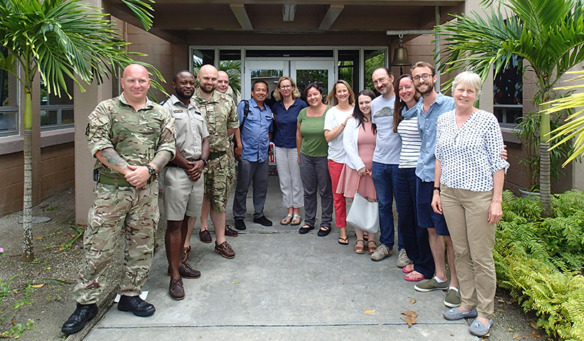 Attendees at biosecurity workshop on Diego Garcia
