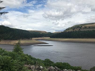 Bottom half of Howden Reservoir, July 2018