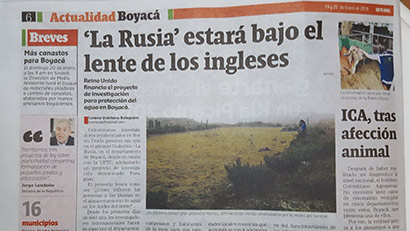 Part of a Spanish language news article from a Colombian newspaper