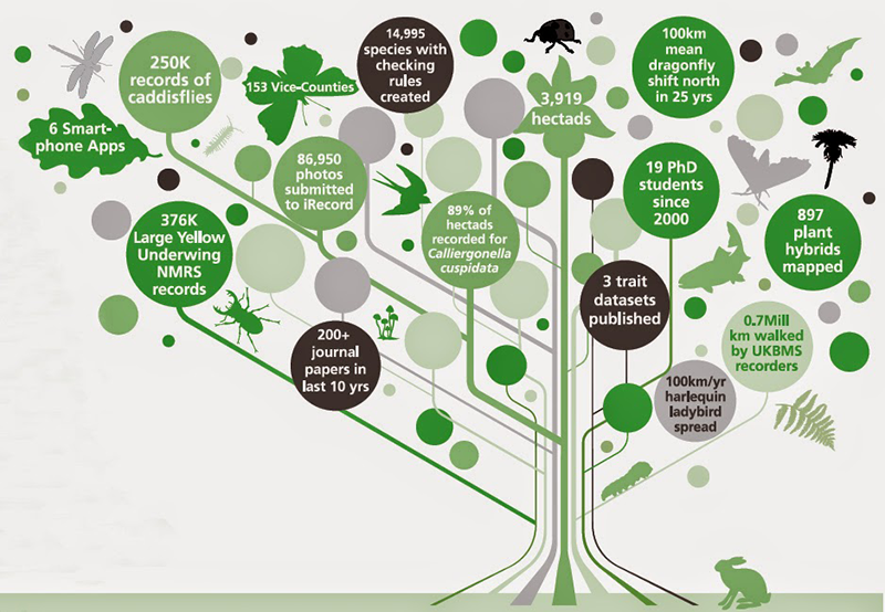 Biological Records Centre 50th anniversary infographic