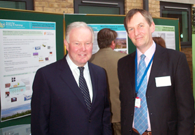 Charles Hendry MP (left), Minister of State for Energy &  Climate Change, with Dr David Howard of CEH