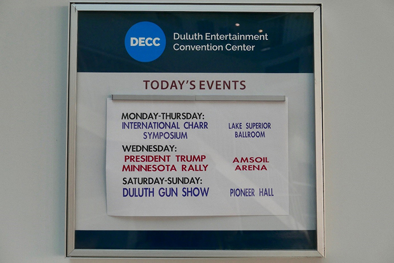 Poster advertising events at the Duluth Entertainment Convention Center