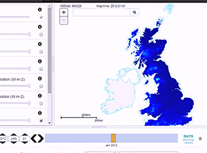 Screengrab from CHESS Explorer showing British Isles map