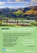 Cover of leaflet on why we should conserve and manage soils