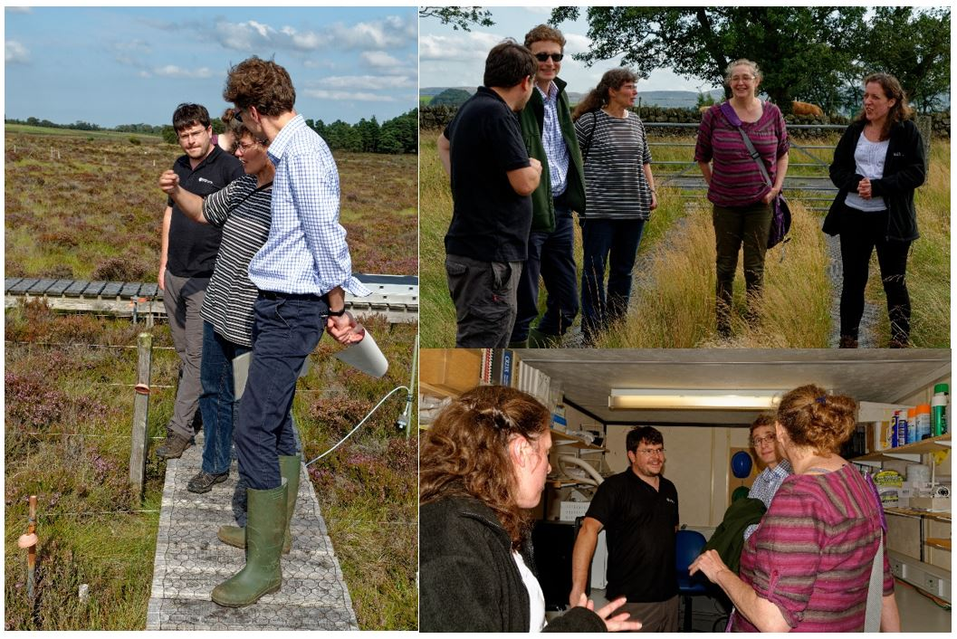 The Chief Scientific Adviser and CEH scientists talking at Whim Bog and Auchencorth Moss