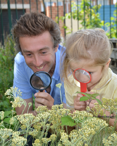 Dallas Campbell, science broadcaster, was a campaign ambassador for the EDF Energy Big Bumblebee Discovery