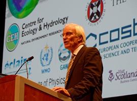 Professor David Fowler of CEH speaking at the Ozone Symposium