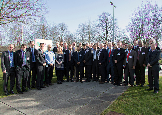 Delegates on the India-UK Water Security Exchange visit pictured at CEH