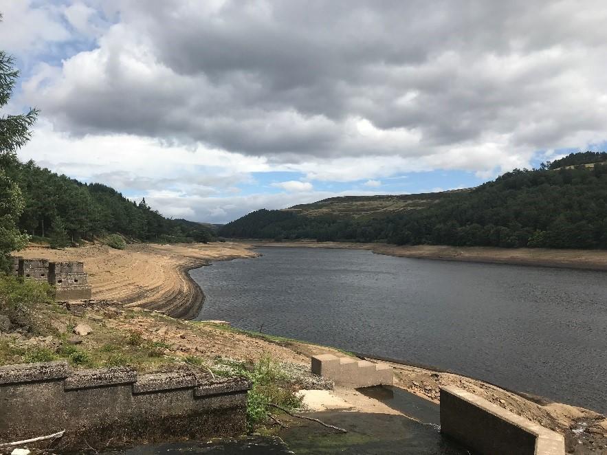 Derwent valley reservoirs on 28th July 2018