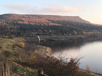Derwent valley reservoirs on 15th November 2018