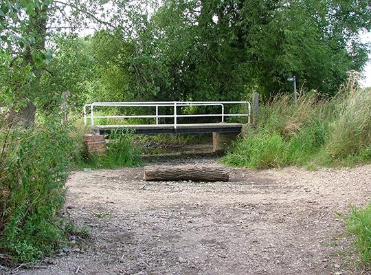 Dried stream bed (photo: Ned Hewitt)
