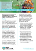 Cover of Ecological Processes & Resilience science area summary