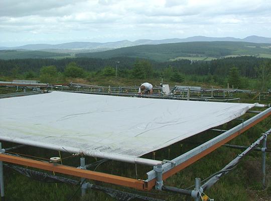 Experiment at Clocaenog upland peatland in Wales