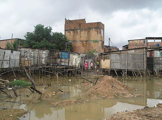 Flooding damage amid poor housing