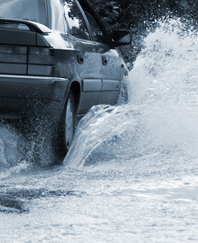 Photo: Driving through flood water (Shutterstock)