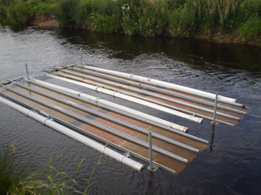 Flume mesocosms used by CEH in its study