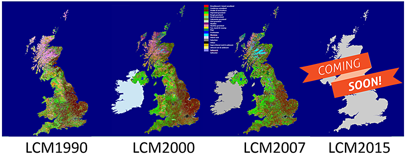 CEH Land Cover Maps through the years