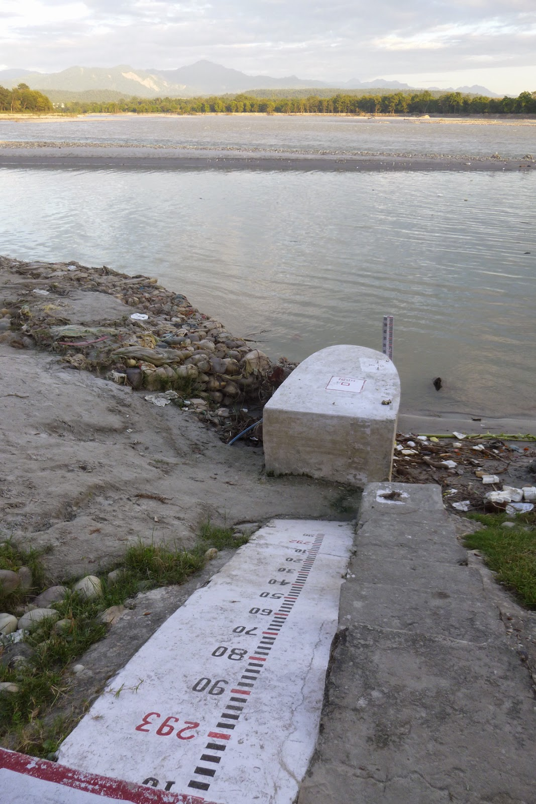 Gauging station on the river Ganges. Photo: Mike Acreman