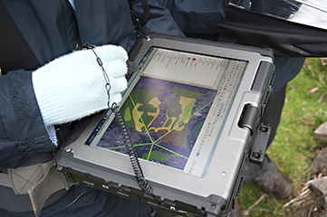 Collecting data in the field on a tablet computer