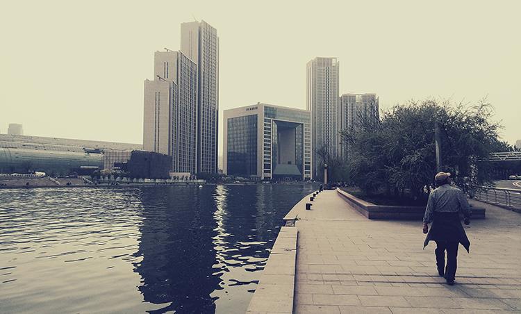 Haihe river in Tianjin in the Bohai Economic Rim