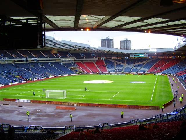 Hampden Park is one of the venues for the 2014 Commonwealth Games in Glasgow. Photo by Jmorrison230582 in public domain.