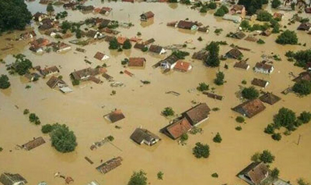 Floods in the Sava River Basin in May 2014 forced thousands to leave their homes. Photo: International Sava River Basin Commission