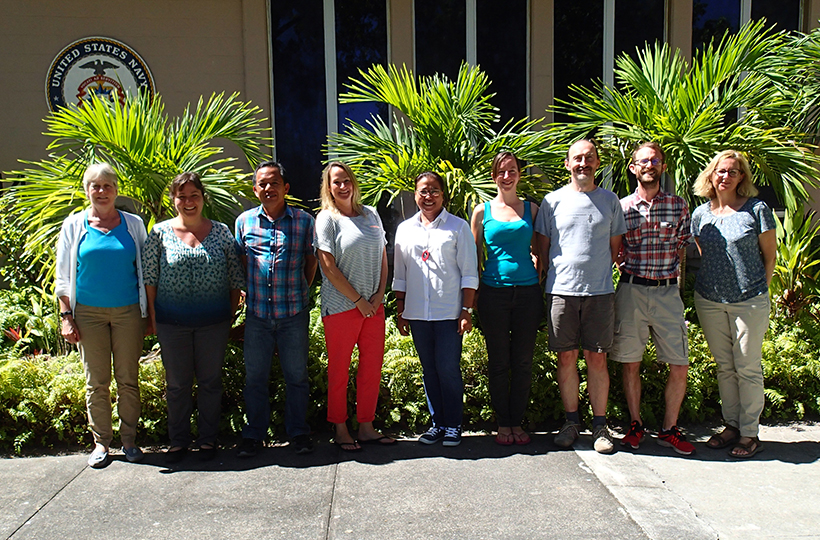 Attendees of non-native species horizon scanning workshop on Diego Garcia