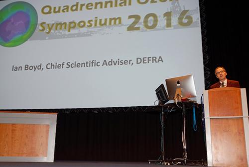Ian Boyd, Defra chief scientific adviser, at the 2016 Ozone Symposium