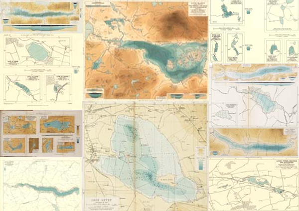 Collage of bathymetric maps