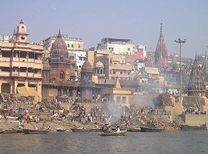Activity on the river Ganges (or Ganga) in India