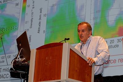 John Pyle of the University of Cambridge at the Ozone Symposium