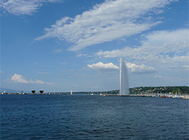 Jet d'eau and Lac Leman in Geneva