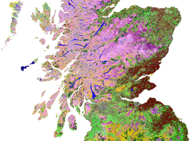 Part of Scotland in Land Cover Map 1990