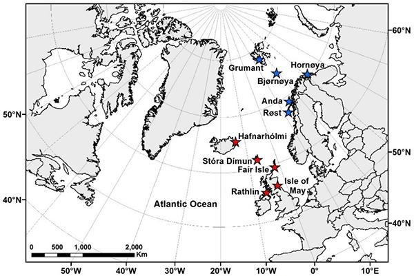 Location of study colonies, Bogdanova et al 2017