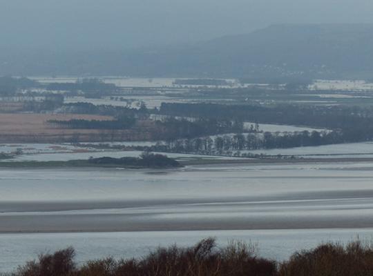 Flooded Lyth Valley, Cumbria in December