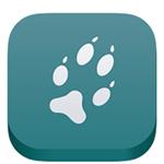 Mammal tracker mobile app logo